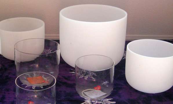 Quartz Crystal Singing Bowls